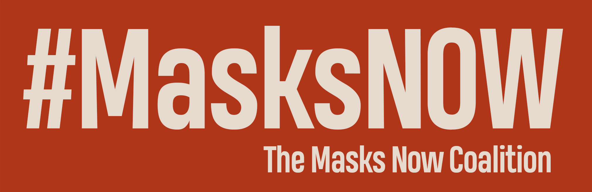 masks now banner